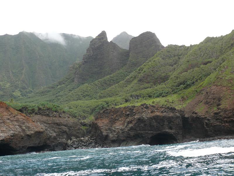 A cave along the Na Pali coast