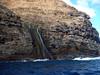 Freshwater (from rain) meets the ocean on the Na Pali Coast of Kauai (Hawaii).