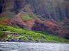We reach the Na Pali coast (northwest) of Kauai (Hawaii) in the morning. Very beautiful and rugged.