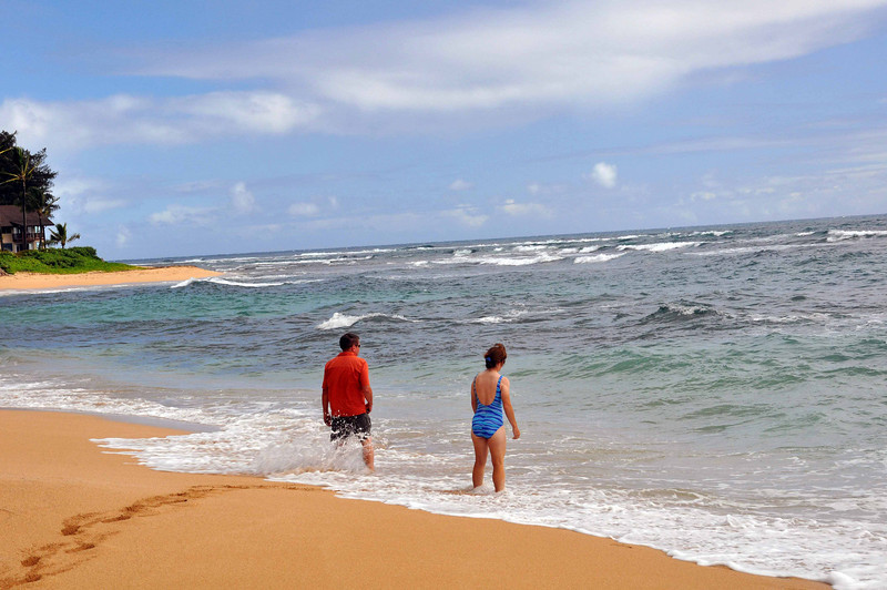 Beach near Hanalei, Kauai.