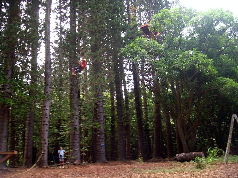 Swinging Sam on the monster swing.