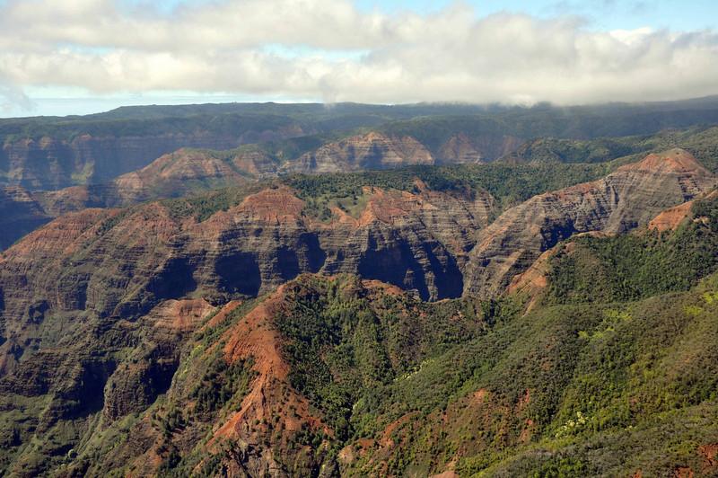 Waimea Canyon from the air.