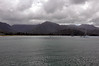 Hanalei Bay (north side) from the pier on Kauai (Hawaii).