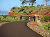 The nice coastal trail near Kapaa, Kauai (Hawaii) is a very pleasant walk, run or bike ride along the island's eastern shoreline.