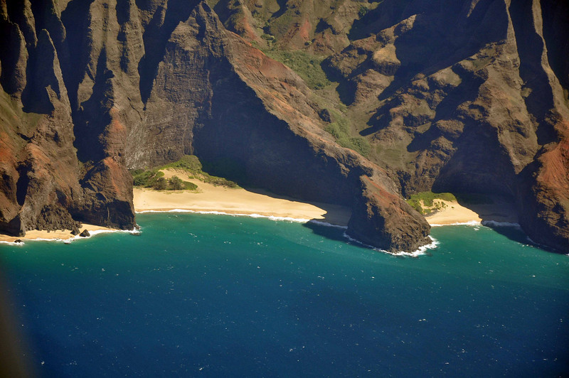 The Hanakoa Valley of the Na Pali coast of Kauai.