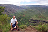 Rick gets out from behind the camera near the mouth of Waimea Canyon.