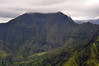 Mountains directly behind Hanalei Town in Kauai.