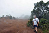 The end of the road in Waimea Canyon and raining pretty steadily. Of course we're not dressed for rain, so we snap a few quick photos and head for lower (clearer) ground. Tourists!