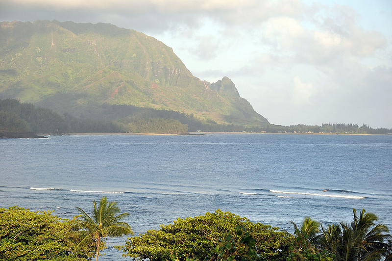 "Hanalei was the backdrop of the 1958 musical film South Pacific. For the Peter Paul & Mary song ""Puff, the Magic Dragon,"" Puff's homeland ""Hanah Lee"" refers to Hanalei Town. The cliffs on the side of the beach resemble a dragon. Puffing marijuana? The town in Lilo & Stitch is based on Hanalei. In the winter, surfers enjoy large waves near Hanalei Bay."