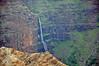 Distant (and large) waterfall in Waimea Canyon, Kauai.