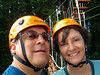 Rick and Wendy, all geared-up for climbing.