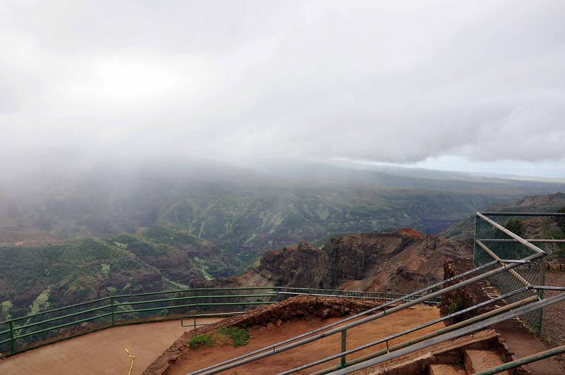 One of several stops along Waimea Canyon drive on Kauai (Hawaii).