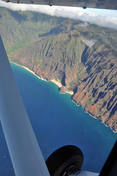 Na Pali (western) coast of Kauai.