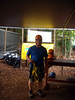 Rick prepares for the eco adventure (zipline, rope bridges, rapelling, high cable swing and rock wall climb).