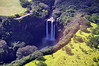 Famous Wailua Falls, now seen from the air. We'd driven to the falls a day earlier, as dedicated tourists!