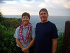 Liz (birthday lei) and Sam at Kilauea Point.