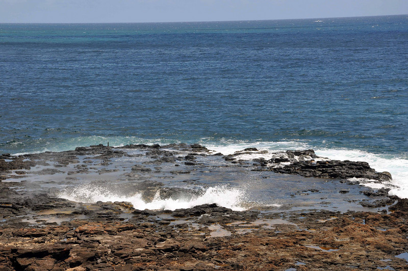A final look at the shoreline, before heading to the airport for the long trip home from Kauai.