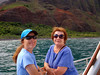 Liz and Mary (mom), enjoying the Na Pali coast.