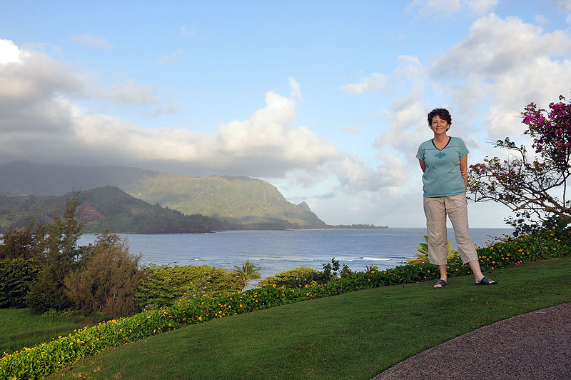 Princeville, with Hanalei Bay in the background Kauai (Hawaii).