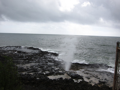 At Spouting Horn in Poipu