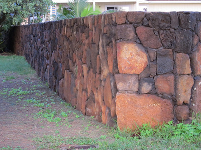 Typical wall made from Lava rock