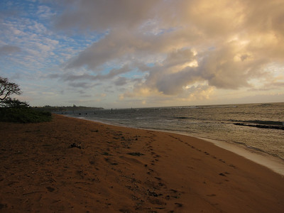 This was our morning walk on the Beach train in Kapa'a