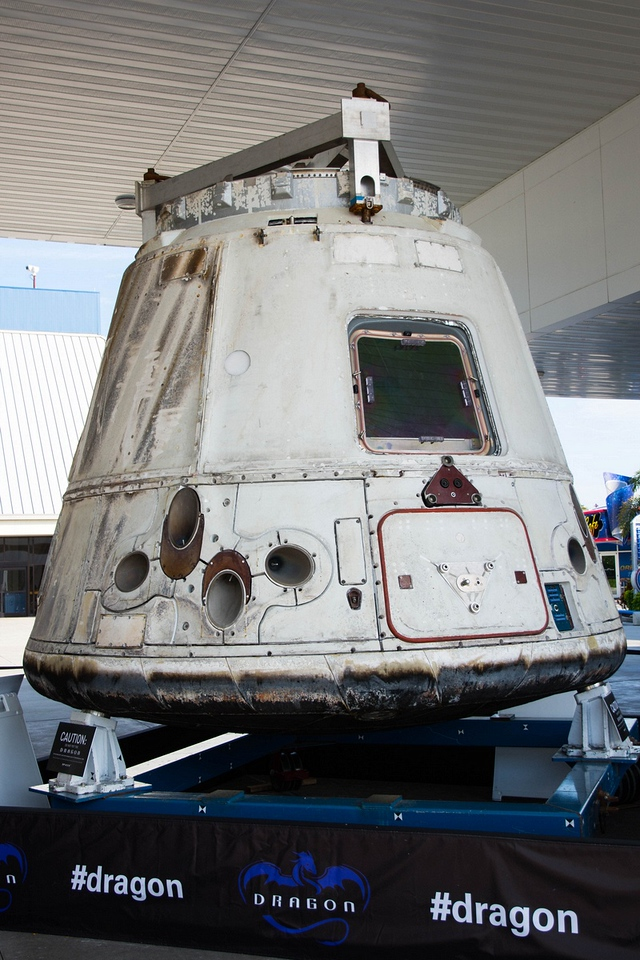 Dragon Capsule that was used to supply Space Station