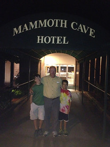 September 20, 2013 - (Mammoth Cave Hotel [entrance] / Mammoth Cave National Park, Edmonson County, Cave City, Kentucky) -- James, David & Aaron