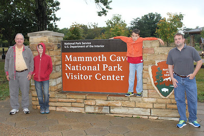 September 21, 2013 - (Mammoth Cave Visitor Center [entance signage] / Mammoth Cave National Park, Edmonson County, Cave City, Kentucky) -- David, James, Aaron & Michael