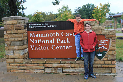 September 21, 2013 - (Mammoth Cave Visitor Center [entance signage] / Mammoth Cave National Park, Edmonson County, Cave City, Kentucky) -- Aaron & James