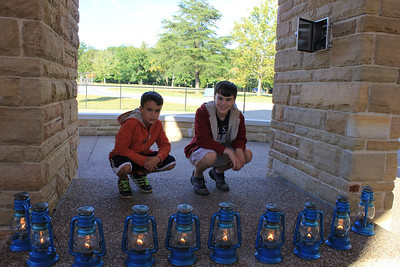 September 21, 2013 - (Star Chamber Tour [Historic Entrance with lanterns] / Mammoth Cave National Park, Edmonson County, Cave City, Kentucky) -- Aaron & James