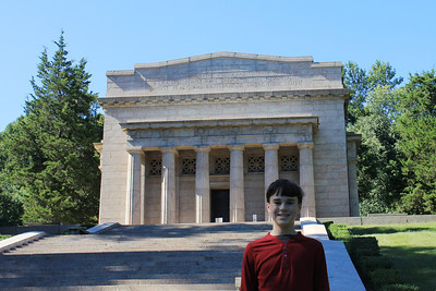 September 22, 2013 - (Abraham Lincoln Birthplace National Historical Park [outside Lincoln Monument] / Sinking Spring, Hodgenville, LaRue County, Kentucky) -- James in front of Monument