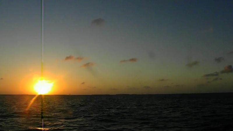 Sailing at sunset on the Adirondack III (I think)