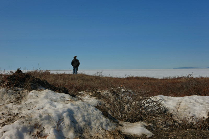 John overlooks Kotzebue Sound and Chukchi Sea beyond