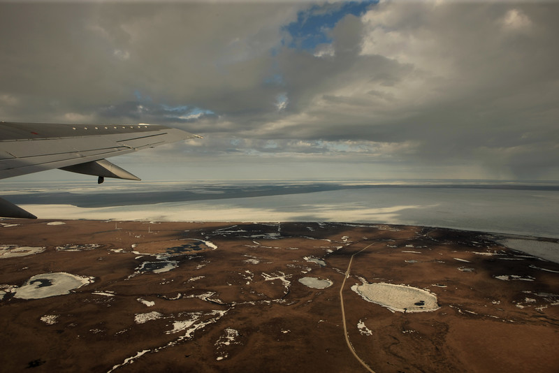 Leaving Kotzebue.  It was such a beautiful plane ride home, I took a lot of pictures.