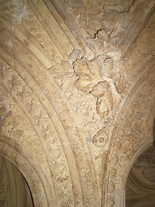 detail in the Norman church