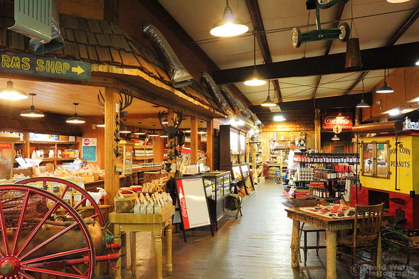 Inside the Smoke House Gift Store