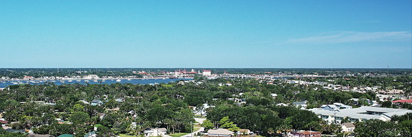 St. Augustine from the Top of the Lighthouse