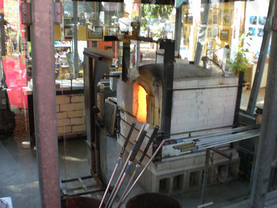 Glass blowing forge. Sawdust Art Festival