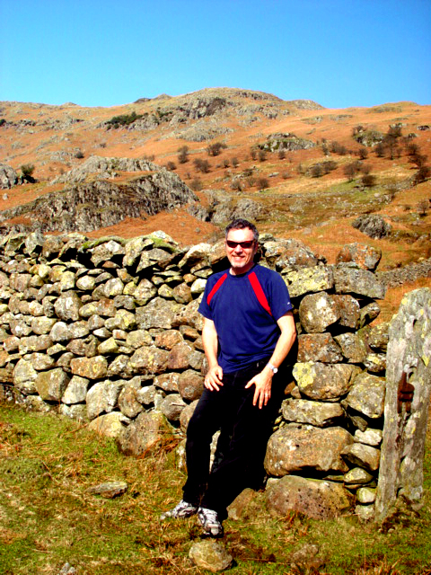 Stevie on the trail to Easedale Tarn