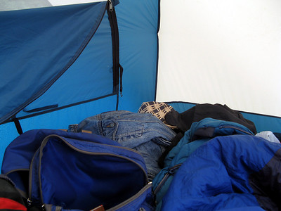 Inside Lily's tent