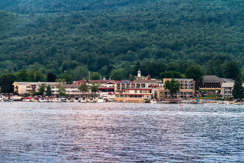 Coming back into the docks at Lake George.