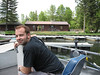Eric driving the pontoon boat on Lake Itasca. July 5, 2006.