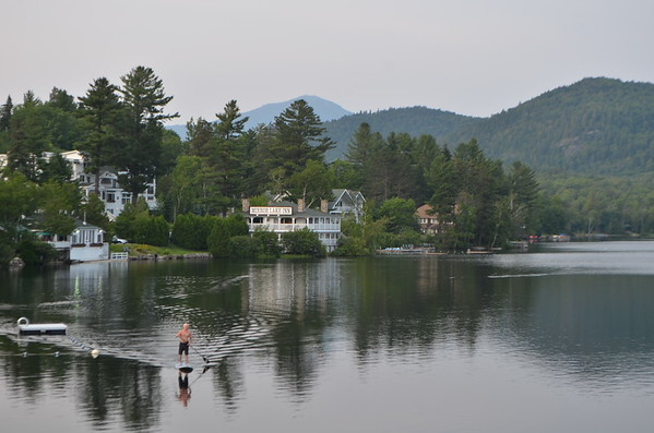 A view of Mirror Lake Inn from our dinner seats.