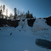 Frozen Gooseberry Falls, Late Afternoon