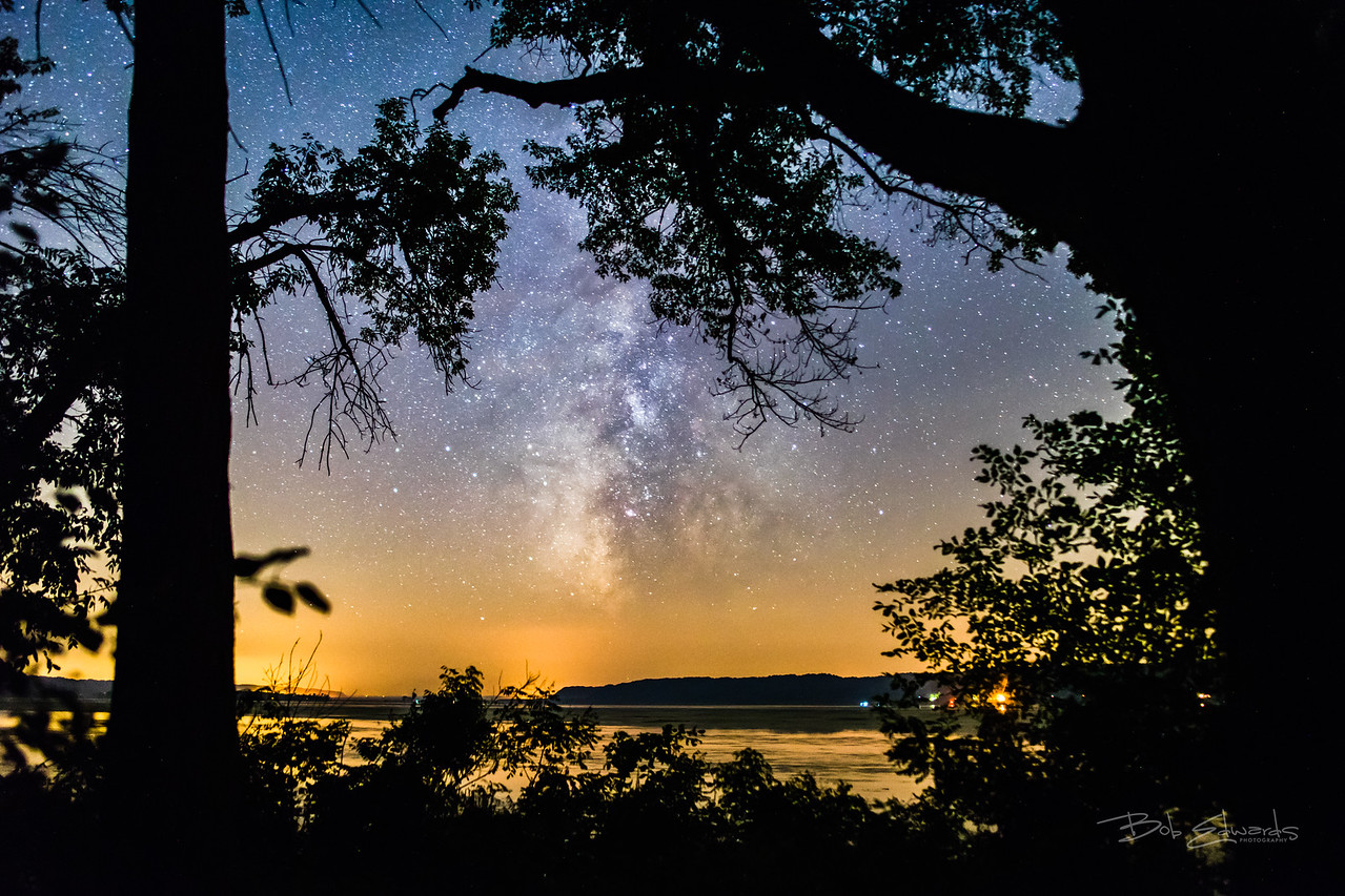 Milky Way over the Mississippi River