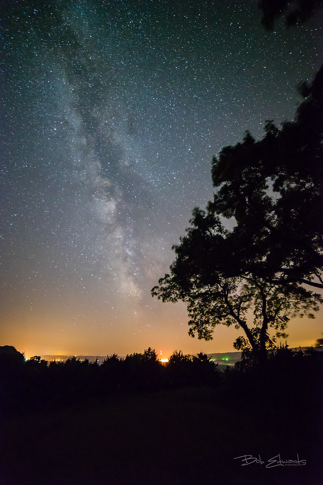 Milky Way over Lansing Iowa