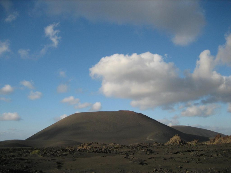 """<a href=""""http://www.lanzaroteisland.com/english/places_of_interest/national_park_of_timanfaya/"""">Timanfaya national park</a>, where from 1730-1736 eruptions spewed out 1 km3 of new lava"""
