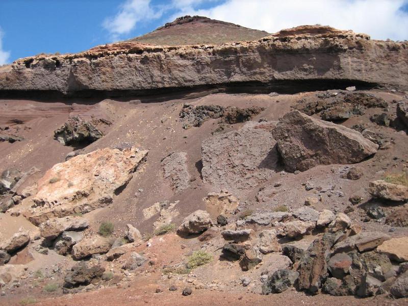 Old mine, mining eruption debris for gardening, roads, etc