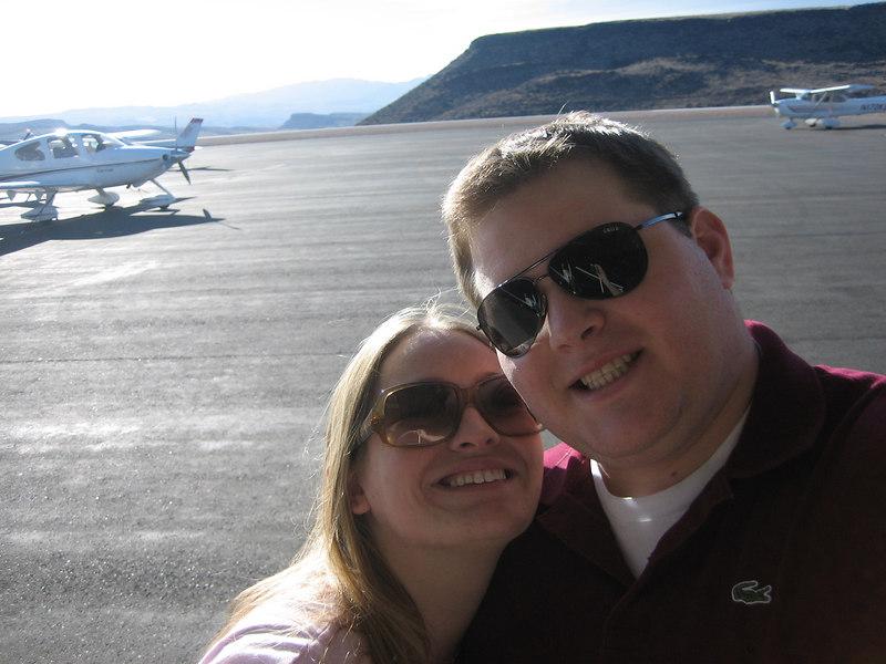 At the airport in Saint George, Utah.